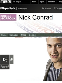 I was a Guest on The Nick Conrad Show BBC Radio Norfolk 21 Aug 2014