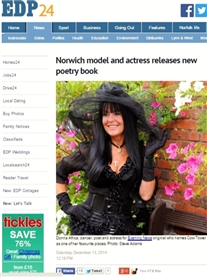 EDP24 14th Dec 2014 Read online http://www.edp24.co.uk/news/norwich_model_and_actress_releases_new_poetry_book_1_3885197