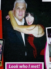 Mitch Winehouse & I Donna Africa pictured together at his London Show in Pick Me Up Magazine 11th June 2015